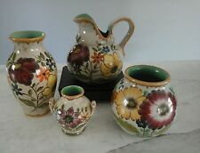 Gouda Pottery Set of 4 Royal Zuid Holland Signed Pristine Condition