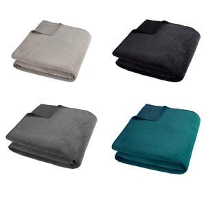 Luxury Velour Pinsonic Throw Soft Warm Blanket Bedspread Size 240cm x 260cm