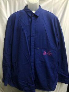 NIKE ACG SHIRT JACKET BLUE PINK BUTTON UP SHIRT SZ 2XL 880977-455 white off b6