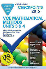 Cambridge Checkpoints VCE Mathematical Methods Units 3 and 4 2016
