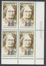 Canada - #622 Nellie McClung Plate Block - MNH