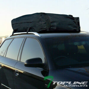 Black Rainproof Roof Top Cargo Carrier Bag Travel Luggage Storage For Cadillac