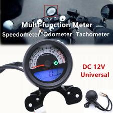 12V Motorcycle LCD Speedometer Odometer Tachometer Gear Fuel Gauge Gear Display
