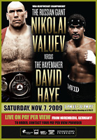 David Haye V Nikolai Valuev Boxing Fight Event Poster Print 8x10 WBC WBO Boxers