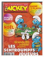 LE JOURNAL DE MICKEY  2740 2741 N° DOUBLE PARIS DAKAR PEYO 2004 BE+/TBE
