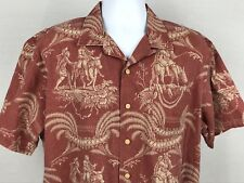 Polo Ralph Lauren Mens Shirt Short Sleeve Button Front Red With Graphic Large