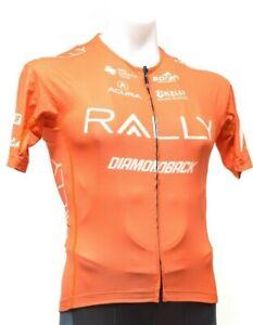 Borah Rally Pro Cycling Team Short Sleeve Jersey Men SMALL Orange Road Bike Race