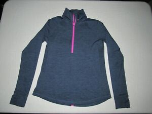 Under Armour Women's Blue 1/2 Zip Up Athletic Long Sleeve Fitted Jacket Size L