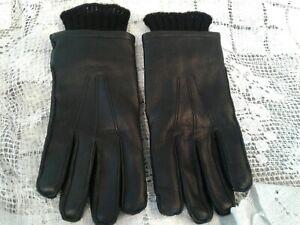 Vintage LL Bean Men's Gloves  Deer Skin Sta-Soft Leather Sz M medium