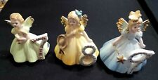 LOT (3) JOSEF ORIGINAL  ANGEL BIRTHDAY FIGURINES WITH LABELS (7,8,9)