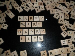 SCRABBLE Crafting Letters Wooden Tiles  Individual Letters CRAZY IN LOCKDOWN