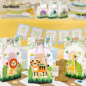 12× Animal Theme Favor Box Candy Box Kid Jungle Birthday Party Wedding Gifts Box