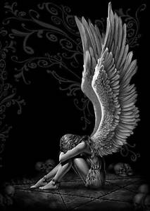 """GOTHIC ANGEL WINGS - XL CANVAS PRINT poster 24""""X 36"""""""