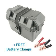 Medium Leisure Battery Box for Group 24M Batteries + FREE Battery Clamps