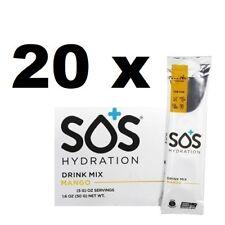 20 X SOS HYDRATION SPORTS ENERGY ELECTROLYTE REHYDRATION DRINK POWDER MANGO 5g