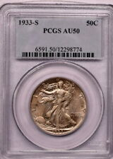 1933 S 50c Walking Liberty Half Dollar PCGS Au 50