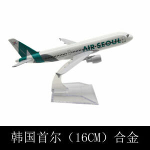 16CM NEW Metal model Seoul A320 model Solid Passenger Airplane Plane Aircraft