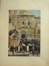 TERRE SAINTE sites et monuments  PHOTOGRAVURE JERUSALEM le lavement des pieds