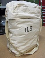 NOS WHITE CANVAS USGI MILITARY 5 GALLON INSULATED CASE SHOULDER BAG CONTAINER