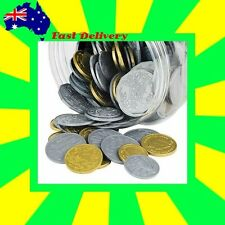 Australian Made Play Money: 5 x $2 & $1 + 10 x 50c,20c,10c,5c  50 coins in TOTAL