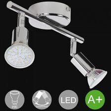 2-flammige LED-Spots Strahler Deckenlampe mit Leuchtmittel Decken Leuchte Lampe