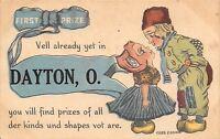 """First Prize"" in Dayton Ohio~All Shapes & Sizes~Boy & Girl~Cobb Shinn Pennant PC"