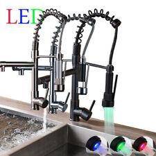 LED Küchenarmatur Spültischarmatur Wasserhahn Einhandmischer 360° Herausziehen