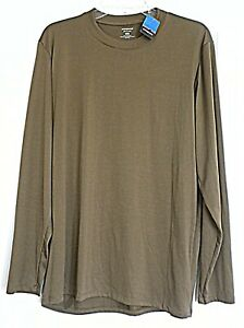 Patagonia Capilene 1 Silkweight Long Sleeve T-Shirt Size Large Men's Brown NWT