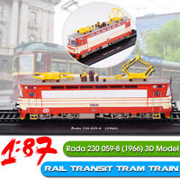 1:87 Rail Transit Tram Train Rada 230 059-8 (1966) 3D Static Modello Locomotive