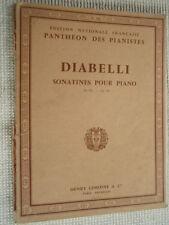 """PARTITION """" DIABELLI SONATINES pour PIANO OP 151 OP 168 """" Editions HENRY LEMOINE"""