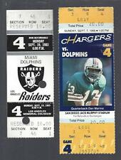 1983 NFL DOLPHINS FOOTBALL TICKETS - MARINO 1ST GAME & TOUCHDOWN and 100TH TD
