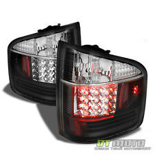 Black 1994-2004 Chevy S10 GMC Sonoma Lumileds LED Tail Lights Lamps Left+Right