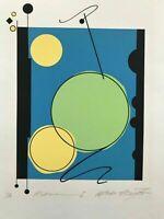 "Postmodern Abstract Serigraph Atsuko Okamoto Contemporary Pop Art  21"" x 30"""