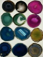 12PCS 2.5inch Brazil Round 6 mixed Colors Agate Slice wholesale lot