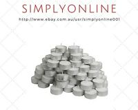 15 IKEA Tealight Unscented Candle White Wedding Party Occasion Candles