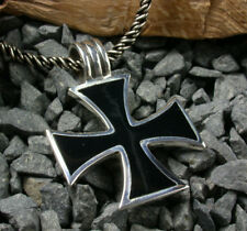 Silber 925 grosses Eisernes Kreuz Freimaurer Malteser Ketten-Anhänger Iron Cross