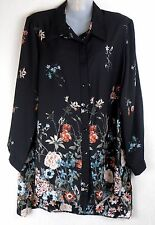 NEW LADIES WOMENS CHIFFON LONG SLEEVE BLOUSE SHIRT FLORAL PRINT PLUS SIZE 14-32)
