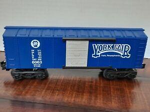 "K-LINE ~O GAUGE ~PENNSYLVANIA  RR -  ""YORK PA. FAIR"" -  BOX CAR ~ K-4016"