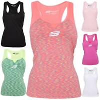 Skechers Ladies Mesh Texture Athletic Gym Sports Bra Top Active Wear Yoga Vest