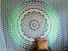 Large Indian Ombre Mandala Tapestry Hippie Wall Hanging Bedspread Blanket Throw Turquoise WMT 100 Cotton
