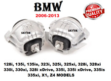 06-13 BMW 128 135 323 325 328 330 335 X1 Z4 Left & Right Engine Motor Mount SET