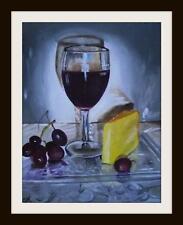 Vino y Queso Noche : Original Pintura Al Óleo de Susan Ballantyne - Mortimer