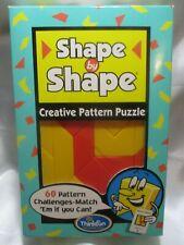Thinkfun Shape by Shape Brain Teaser Tangram 60 Challenges. Sealed. Box damage.