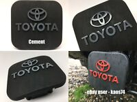 FITS Toyota Tacoma Trailer Hitch Plug Cover Decal - Cement