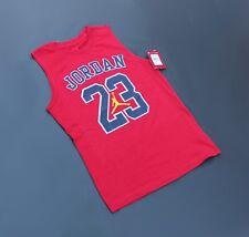 Nike Jordan Jumpman Jersey T Size L 12-13 yrs Red / Blue (NWT Retail $20)