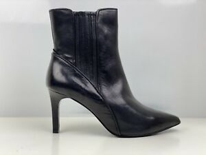 Autograph Womens Black Leather Ankle Chelsea Boot UK Size 5