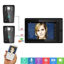 7 inch Wired / Wireless Wifi IP Video Door Phone Doorbell Intercom Entry System