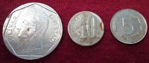 Combo Lot 3x Nickel Coins 1983-2007 Venezuela Fuerte 500 Bolivares Dollar