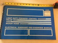 1992 GMC VAN Motor Home Chassis Electrical Diagnosis & Wiring Diagrams Manual 92