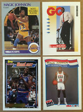 MAGIC JOHNSON LOT of 4 parallel base cards NM+ HOF LA Lakers Earvin Topps gold